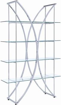 """ATENA Chrome 48"""" Wide Bookcase"""