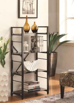 Olivia Black Bookshelf 4 shelves