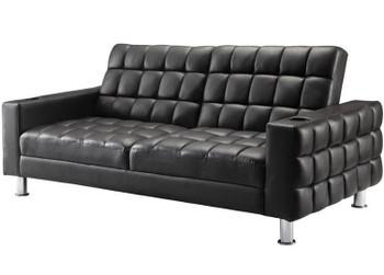 "FREDD Dark Brown 77"" Wide Sofa Bed"