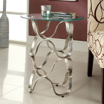 Elena Chrome Side Table