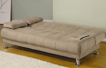 Colton Tan Microfiber Sofa Bed