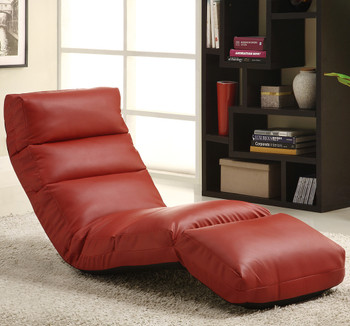 Austin Red Leather Lounge Chair