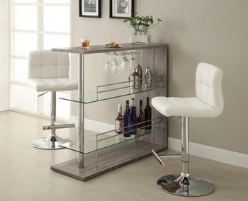 Skyline Reclaimed Wood Look Bar Table With Storage