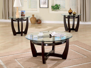 Ross Cappuccino 3 Piece Table Set