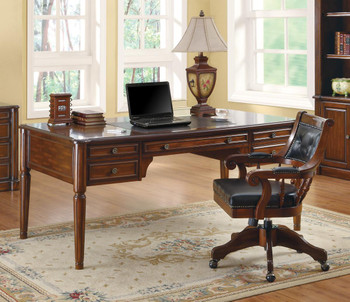KAEDEN 36'' Wide Rich Walnut Desk