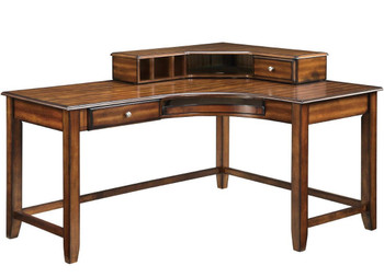 HARVEY 60'' Wide Walnut Desk with Hutch