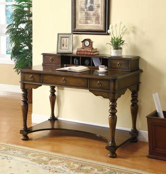 ELLIE 26'' Wide Brown Cherry Writing Desk