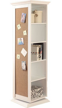 KAYLEE White Swivel Cabinet