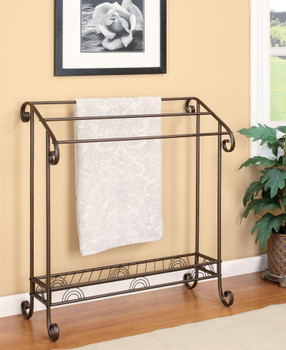Nancy Dark Bronze Metal Towel Rack