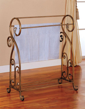 Anthony Antique Gold Metal Towel/Quilt Rack
