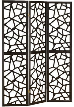 Basilica Black Three-Panel Divider