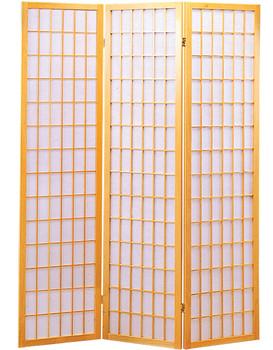 Samson Natural Three-Panel Divider