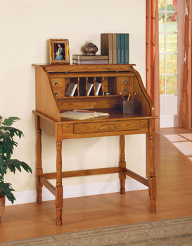 ALAYNA 32'' Wide Oak Secretary Desk