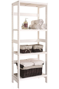 Carolan White Bathroom Rack