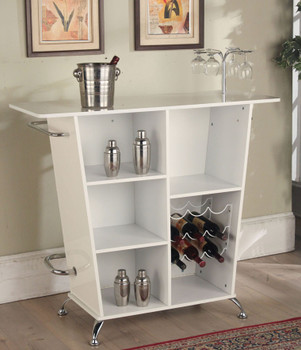 Elvine White Bar Table