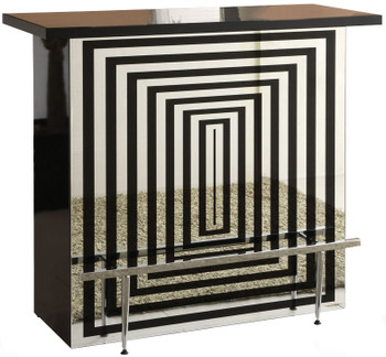 Marline Bar Table With Glass Top