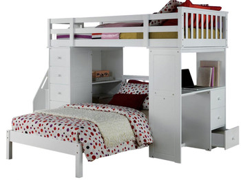 Libby White Loft Bed With Twin Bed