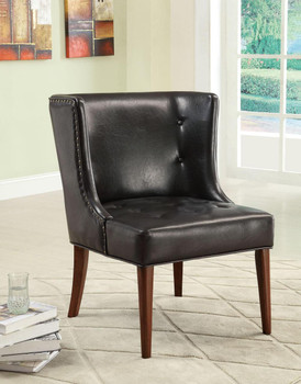Jaxon Black Accent Chair