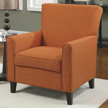 Ollie Orange Arm Chair Woven Fabric