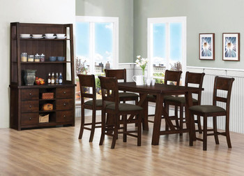 Aviana Rustic Walnut 5-PC Counter Height Set
