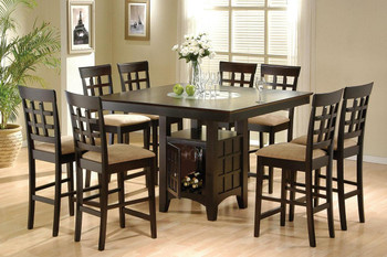 Meyer Cappuccino 5-PC Counter Height Set With Lazy Susan