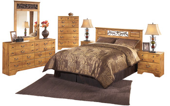 Barrowhill Pine Queen & Full Panel Headboard