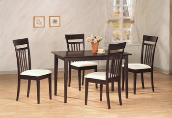 August Cappuccino 5-PC Dining Set