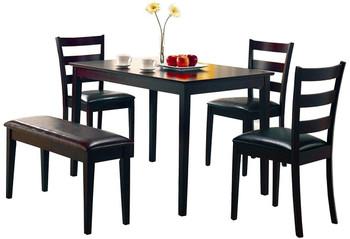 Belva Dark Brown 5-PC Dining Set