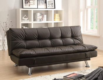 Mai Brown Leather Sofa Bed
