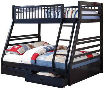 Aldo Navy Blue Storage Bunk Bed
