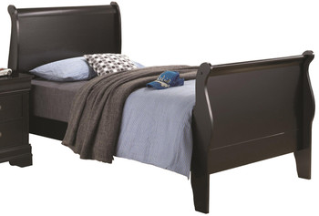Adolphus Black Youth Sleigh Bed