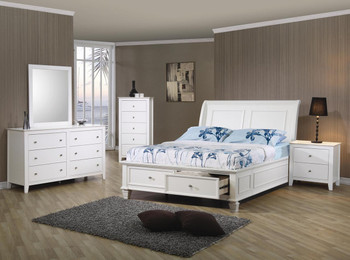 Cadalyn Twin White Platform Bed