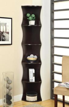 Ripple Cappuccino Corner Bookshelf