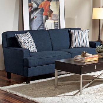 Alexus Blue Linen Fabric Sofa