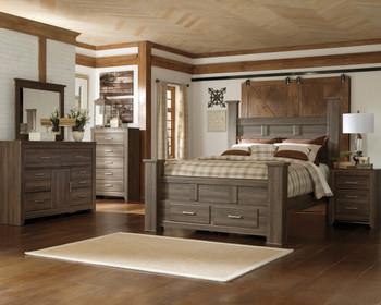 HACIENDA Aged Poster Bedroom Set with Storage Drawers