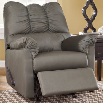 Edeline Gray Plush Rocker Recliner