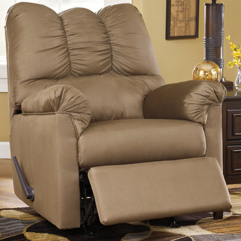 Edeline Mocha Plush Rocker Recliner