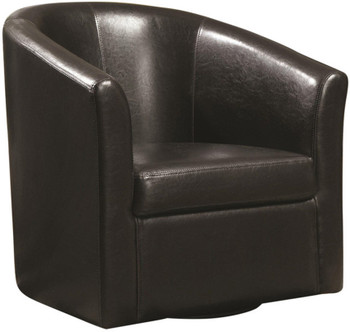 Cole Dark Brown Swivel Chair