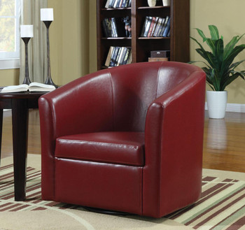 Cole Red Swivel Chair