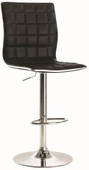 VINCE Black Adjustable Barstool