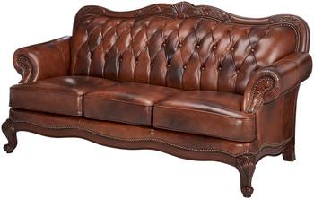 "GORDON 87"" Wide Top Grain Leather Sofa"