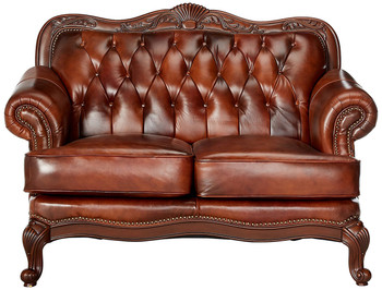 "Gordon 65"" Wide Top Grain Leather Loveseat"