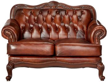 """GORDON 65"""" Wide Top Grain Leather Loveseat"""