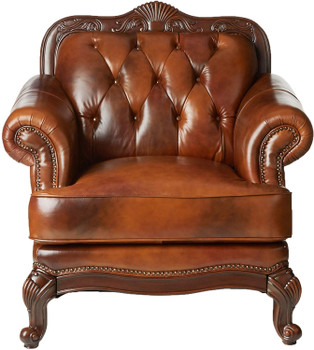 "Gordon 46"" Wide Top Grain Leather Arm Chair"