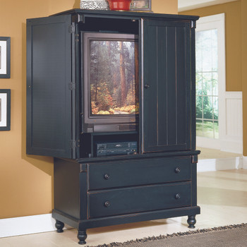 "Provincia Sanded Black 68""H Armoire"