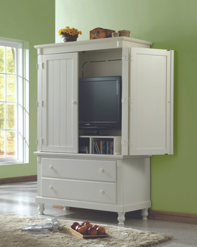 "Provincia Sanded White 68""H Armoire"