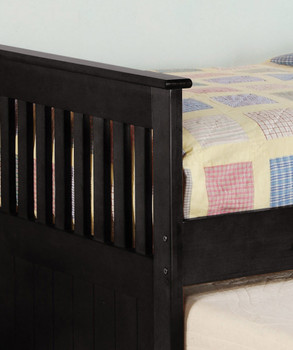 Embry Black Trundle Bed with Drawers