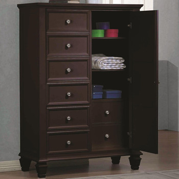 "Lozano Cappuccino 60""H Door Chest"