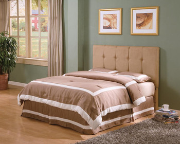 Heinz Tan Microfiber Queen Headboard