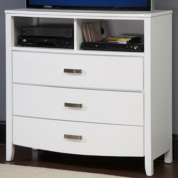"Monet Glossy White 40.8""L TV Chest"